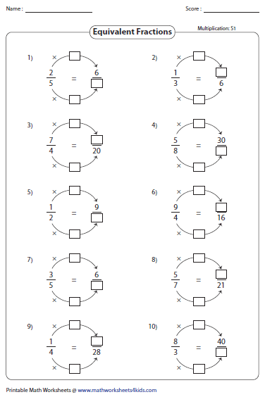 Printables Equivalent Fractions Worksheets equivalent fraction worksheets learning fractions