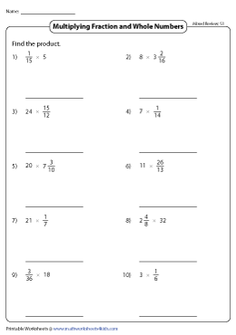 Fraction Multiplication | Mixed Review