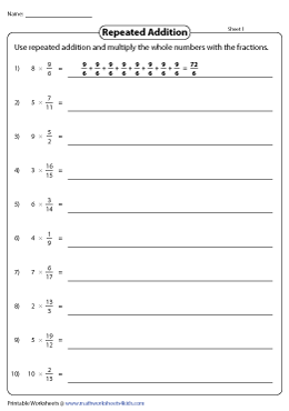 Multiplying Fractions by Repeated Addition