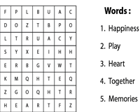 Friendship day word puzzle