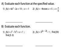 Evaluating Functions | Mixed Review - Level 2