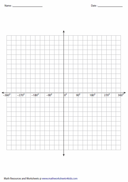 2pi To 2pi Graph  Printable Blank Graph Paper