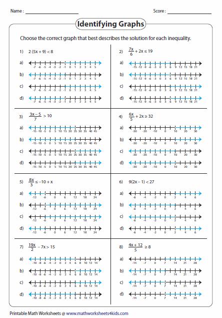 math worksheet : multi step inequalities worksheets : Inequality Math Worksheets