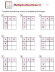 Multiplication squares