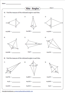 Find the Indicated Angles | Diagonals