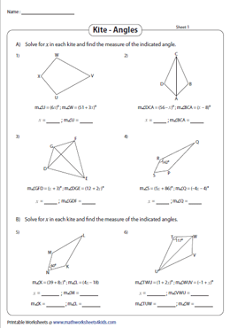 Solve for x | Find the Indicated Angles in a Kite
