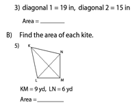 Find the Area of a Kite | Integers - Type 2