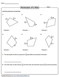 Perimeter of kites | Fractions