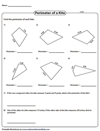 Perimeter of kites | Integers - Level 1