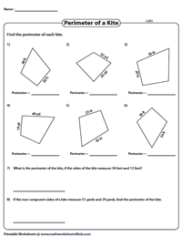 Perimeter of kites | Integers - Level 2