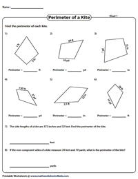 Perimeter of kites | Unit conversions