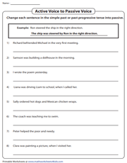 photo regarding Poems for Two Voices Printable named Hectic and Pive Voice Worksheets