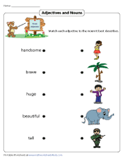 Adjectives and Nouns | Matching