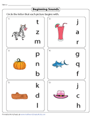 Choosing Correct Beginning Sounds