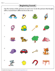Beginning Sounds That Don't Match