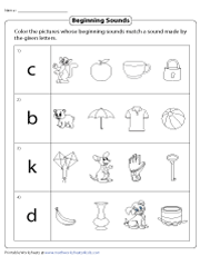 Coloring Pictures | Beginning Sounds
