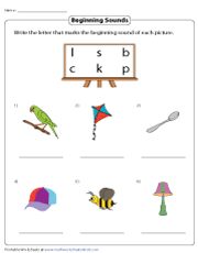 Identifying Beginning Sounds