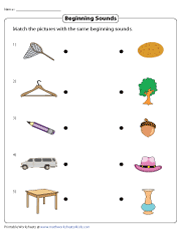 Matching Beginning Sounds