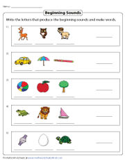 Beginning Sounds and New Words