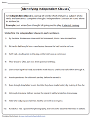 Identifying Independent Clauses