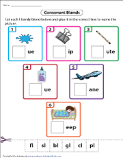 L-Family Blends | Cut and Glue Activity