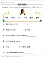 Cvc Words Worksheets - 45+ Free Printable Cvc Words Worksheets For Kindergarten Gif