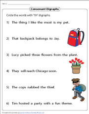 Identifying TH Digraphs in Sentences