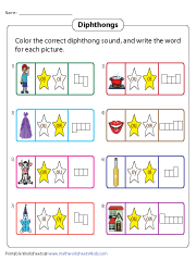 Coloring and Writing Diphthongs