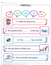 Completing Sentences | Diphthongs