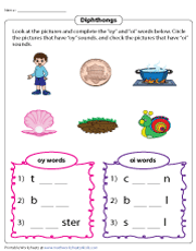 Identifying OY and OI Diphthongs