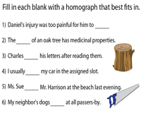 Complete Sentences with Homographs