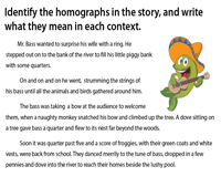 The Perfect Gift - Identify the Homographs