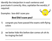 Punctuate the interjections correctly