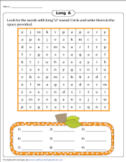 Long A Word Search