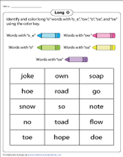 Identifying Long O Spelling Patterns