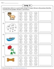 Long O Worksheets - 47+ Kindergarten Long Vowel O Worksheets Pictures