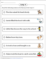 Long O Fluency Strips