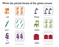 Write the Plural forms of Nouns