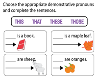 Choose the correct Demonstrative Pronoun