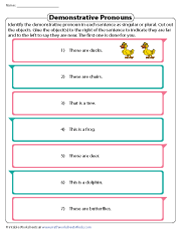 Demonstrative Pronouns | Cut-and-Glue Activity