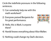 Identify the Indefinite Pronouns