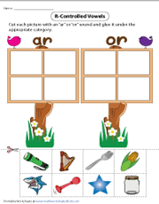 Bossy R | AR or OR - Cut and Glue Activity