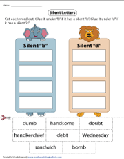Cutting and Gluing Silent-B and D Words