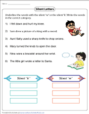 Identifying Words with the Silent K or W
