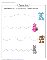 Tracing Lines Easter Bunny Theme