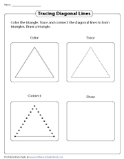 Tracing Diagonal Lines in a Triangle