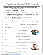 Forming Present Perfect and Present Perfect Progressive