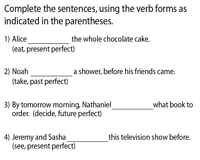 Review and Revise Perfect Tenses