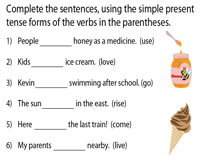 Complete the sentences using Simple Present Tense