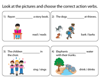 Choose the Correct Action Verb